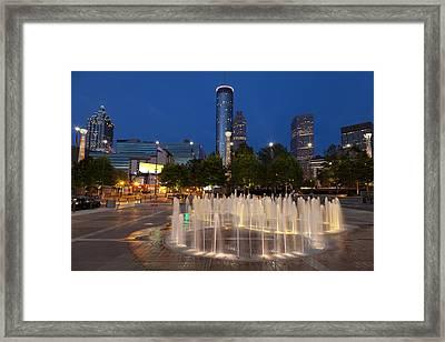 Atlanta By Night Framed Print