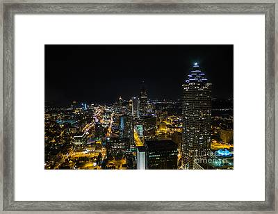 Framed Print featuring the photograph Atlanta City Lights by Sophie Doell