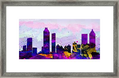Atlanta City Skyline Framed Print by Naxart Studio