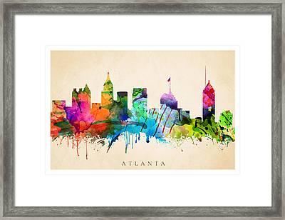 Atlanta Cityscape Framed Print