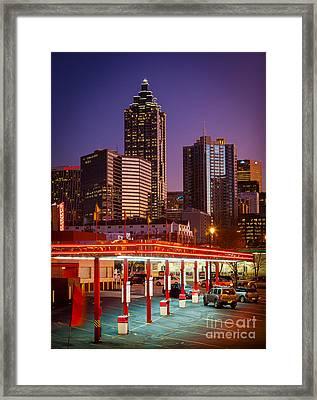 Atlanta Drive-in Framed Print by Inge Johnsson