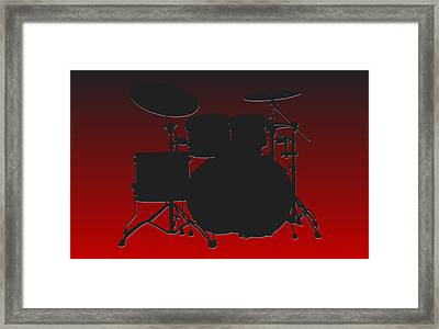 Atlanta Falcons Drum Set Framed Print by Joe Hamilton
