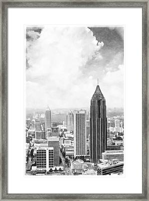 Atlanta From Above Framed Print by Mark E Tisdale