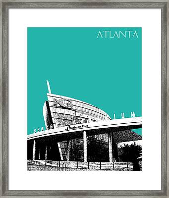 Atlanta Georgia Aquarium - Teal Green Framed Print by DB Artist