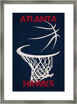 Atlanta Hawks Hoop Framed Print by Joe Hamilton