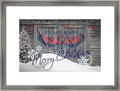 Atlanta Hawks Framed Print by Joe Hamilton