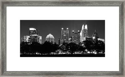Atlanta In Black And White Framed Print