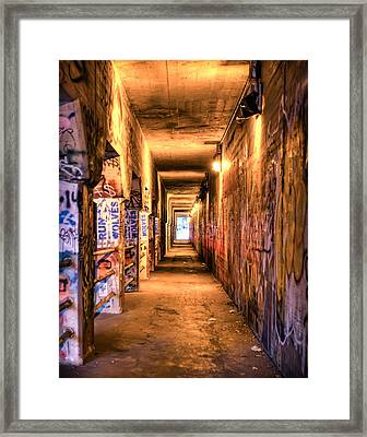 Framed Print featuring the photograph Atlanta Krog St Tunnel. by Anna Rumiantseva