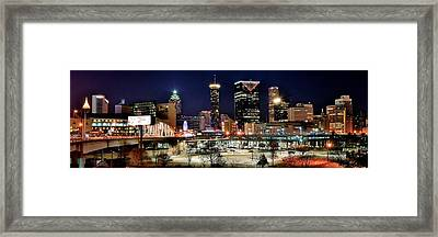 Atlanta Panoramic View Framed Print by Frozen in Time Fine Art Photography