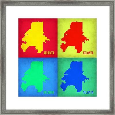 Atlanta Pop Art Map 1 Framed Print