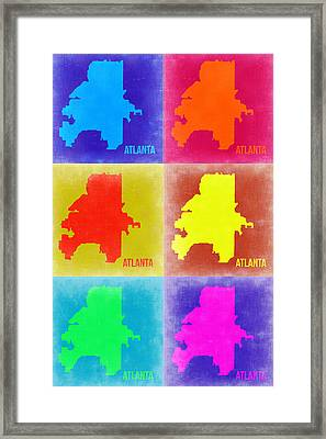 Atlanta Pop Art Map 3 Framed Print