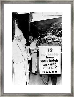 Atlanta Segregation Opposites Framed Print by Underwood Archives