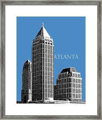 Atlanta Skyline 1 - Slate Blue Framed Print