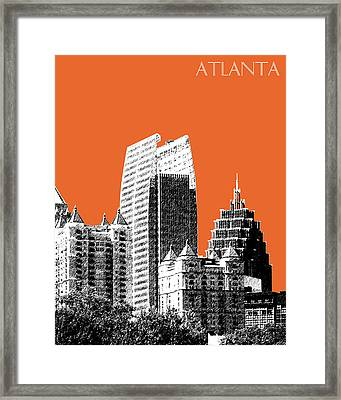 Atlanta Skyline 2 - Coral Framed Print by DB Artist