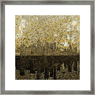 Atlanta Skyline Abstract Framed Print
