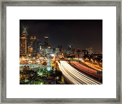 Framed Print featuring the photograph Atlanta Skyline by Anna Rumiantseva