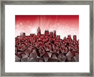 Atlanta Skyline Geometry 2 Framed Print