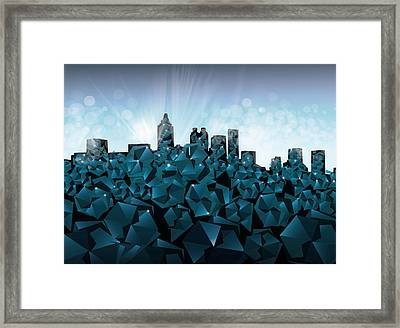 Atlanta Skyline Geometry 3 Framed Print