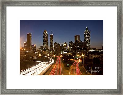 Atlanta Skyline - Jackson St Bridge Framed Print