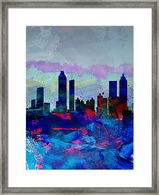 Atlanta Watercolor Skyline Framed Print