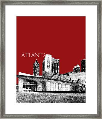 Atlanta World Of Coke Museum - Dark Red Framed Print