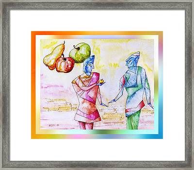 Atlantian  Friendship Framed Print by Hartmut Jager
