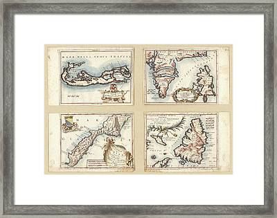 Atlantic And Arctic Islands Framed Print by Library Of Congress, Geography And Map Division