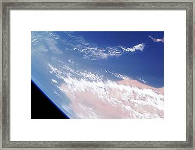 Atlantic And Western Sahara Framed Print by Nasa