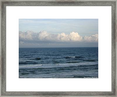 Framed Print featuring the digital art Atlantic At Daytona Beach by Brian Johnson