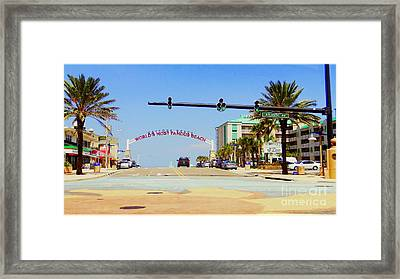 Framed Print featuring the photograph Atlantic Avenue In Daytona by Jeanne Forsythe