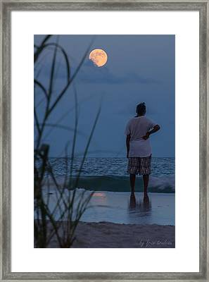 Atlantic Blue Moon Framed Print