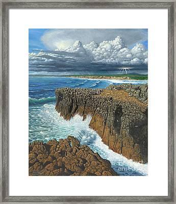 Atlantic Breakers Pontal Portugal Framed Print