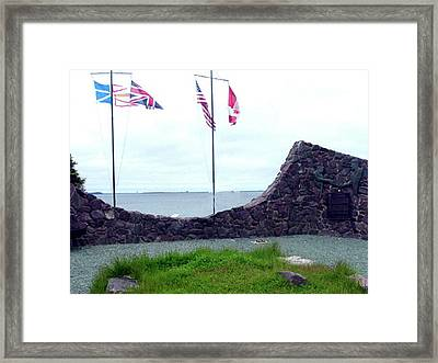 Framed Print featuring the photograph Atlantic Charter Historic Site by Barbara Griffin