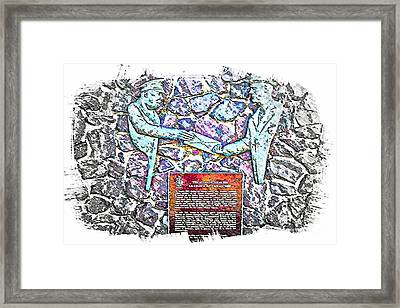 Atlantic Charter Monument Framed Print by Barbara Griffin