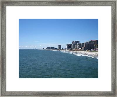 Atlantic City - 12127 Framed Print by DC Photographer