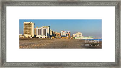 Atlantic City At Sunset Framed Print by Olivier Le Queinec