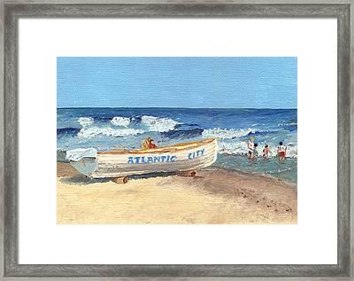 Atlantic City Beach Framed Print by Arch