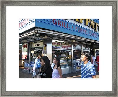 Atlantic City - Boardwalk - 01133 Framed Print by DC Photographer