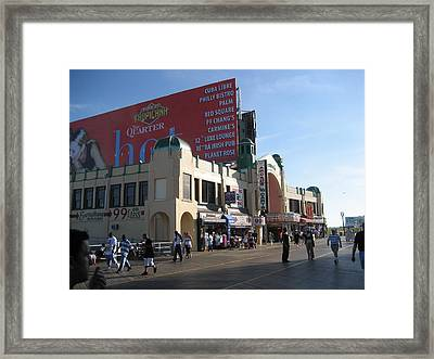Atlantic City - Boardwalk - 12124 Framed Print by DC Photographer