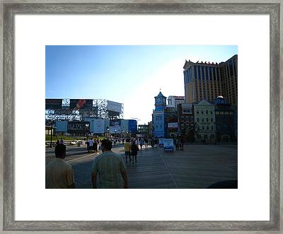 Atlantic City - Boardwalk - 12129 Framed Print by DC Photographer