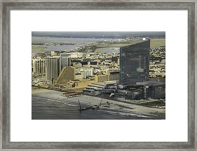 Atlantic City Casinos Framed Print