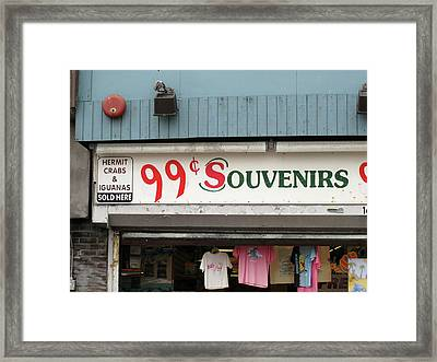 Atlantic City New Jersey - Souvenir Store Framed Print by Frank Romeo
