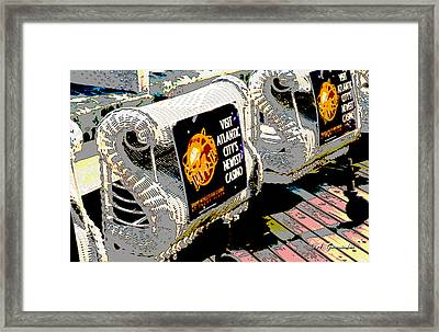 Atlantic City Nostalgia Boardwalk Rolling Chairs Framed Print