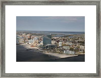 Atlantic City Poster Framed Print