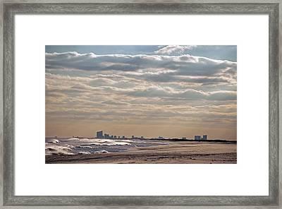 Atlantic City Skyline II Framed Print