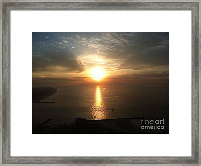 Atlantic City Sunset Framed Print