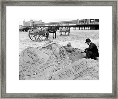 Atlantic City The Sandman Framed Print by Granger