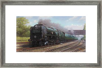 Atlantic Coast Express Framed Print by Mike  Jeffries