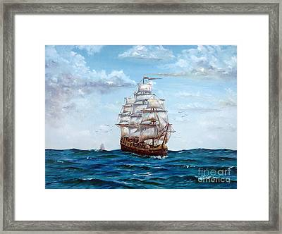 Atlantic Crossing  Framed Print by Lee Piper