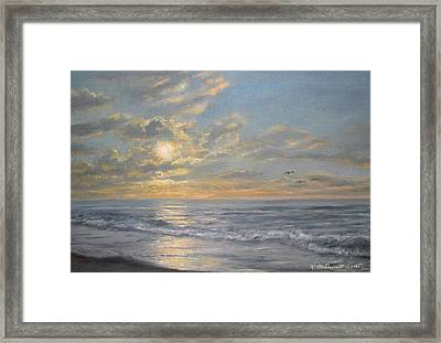 Framed Print featuring the painting Atlantic Dawn by Kathleen McDermott